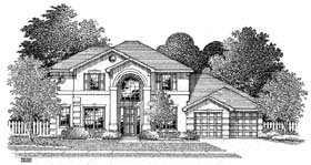 Florida House Plan 54903 Elevation