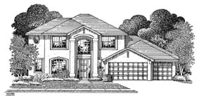 Mediterranean House Plan 54908 Elevation