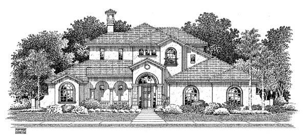 Mediterranean House Plan 54909 Elevation