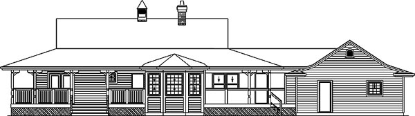 Country House Plan 55001 Rear Elevation