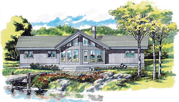 Contemporary House Plan 55002 Elevation