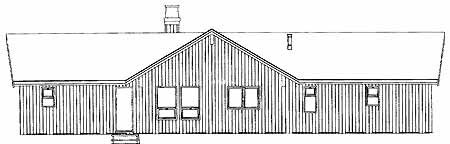 Contemporary House Plan 55002 Rear Elevation