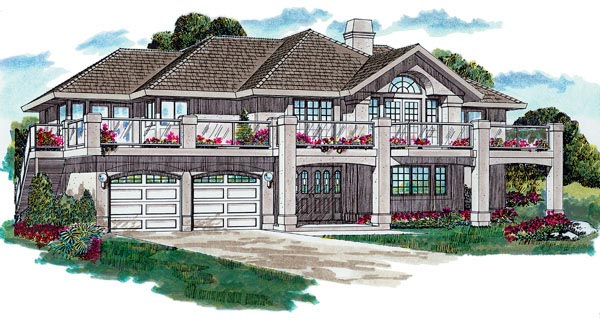 Traditional House Plan 55004 Elevation
