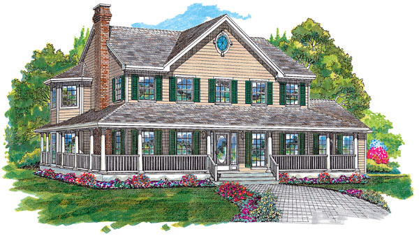 Bungalow Country Southern House Plan 55005 Elevation