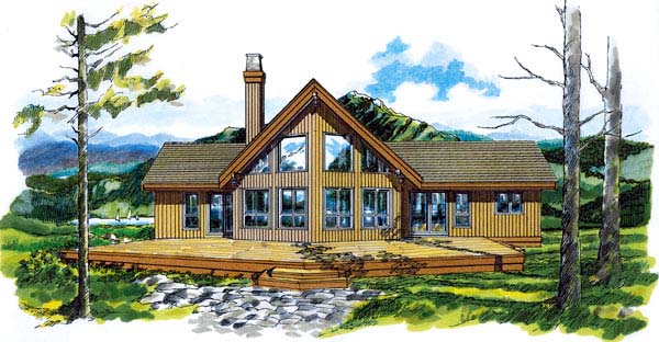 Contemporary House Plan 55009 Elevation