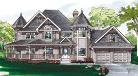 Farmhouse Victorian House Plan 55010 Elevation Ideas