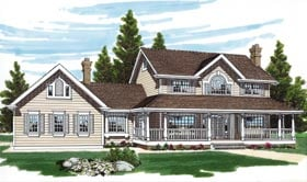 Country Southern House Plan 55012 Elevation
