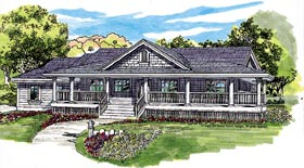 Country House Plan 55016 Elevation