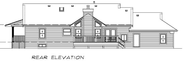 Country House Plan 55016 Rear Elevation