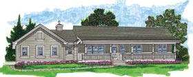 Ranch House Plan 55021 Elevation