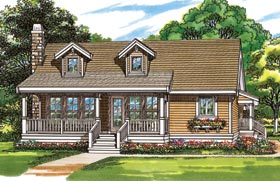 Country House Plan 55022 Elevation
