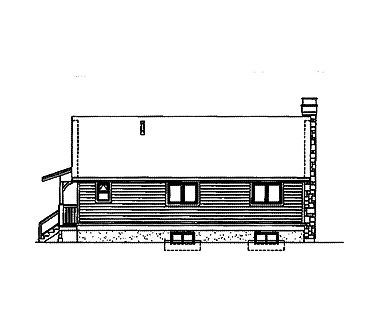 Country House Plan 55022 Rear Elevation