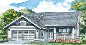 Craftsman House Plan 55025 Elevation