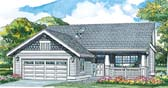 Plan Number 55025 - 1260 Square Feet