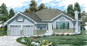 Traditional House Plan 55026 Elevation