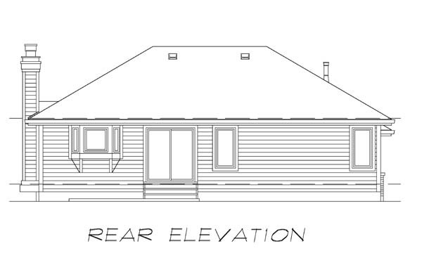 Traditional House Plan 55026 Rear Elevation