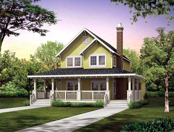 Farmhouse House Plan 55028 Elevation