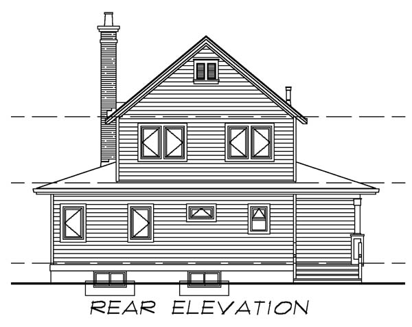 Farmhouse House Plan 55028 Rear Elevation
