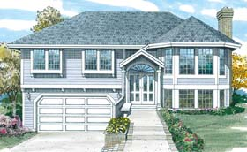 Traditional House Plan 55030 with 3 Beds, 2 Baths, 2 Car Garage Elevation