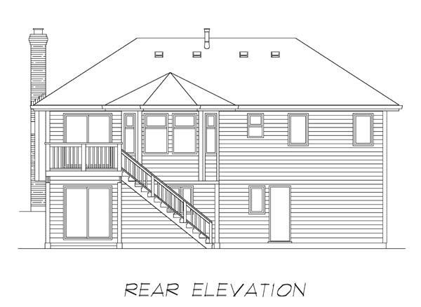 Traditional House Plan 55030 Rear Elevation