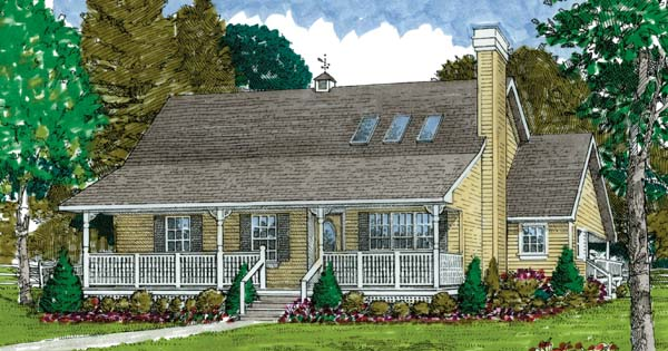 Farmhouse , Ranch House Plan 55031 with 3 Beds, 2 Baths Elevation