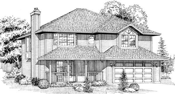 Contemporary House Plan 55032 Elevation