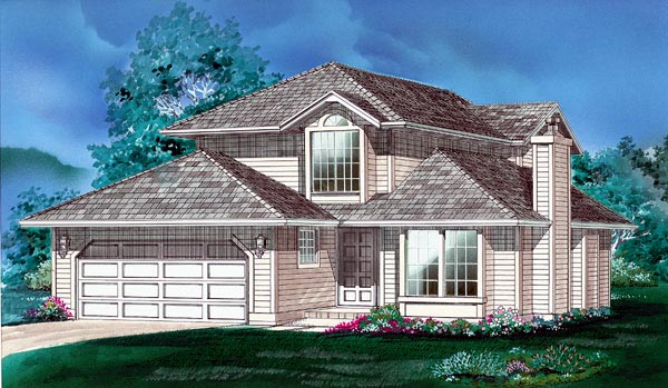 Contemporary House Plan 55033 Elevation