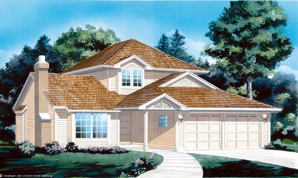 Contemporary House Plan 55035 Elevation