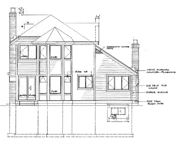 House Plan 55036 | Contemporary Style Plan with 1748 Sq Ft, 3 Bedrooms, 3 Bathrooms, 2 Car Garage Rear Elevation