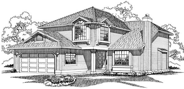 Contemporary House Plan 55039 Elevation