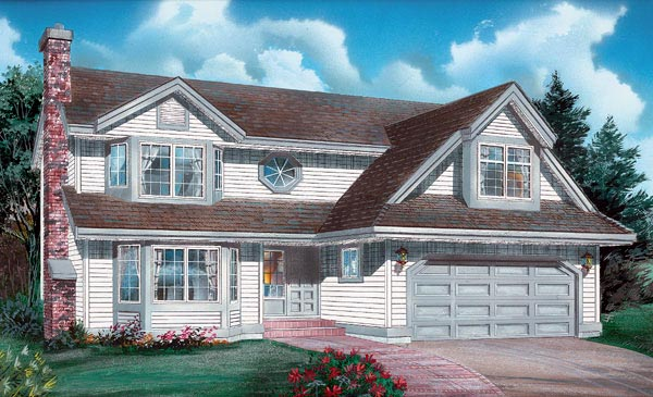 Traditional House Plan 55040 Elevation