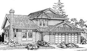 Contemporary House Plan 55041 Elevation