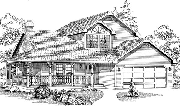 Contemporary House Plan 55042 Elevation