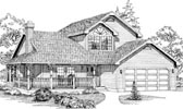 Plan Number 55042 - 2166 Square Feet
