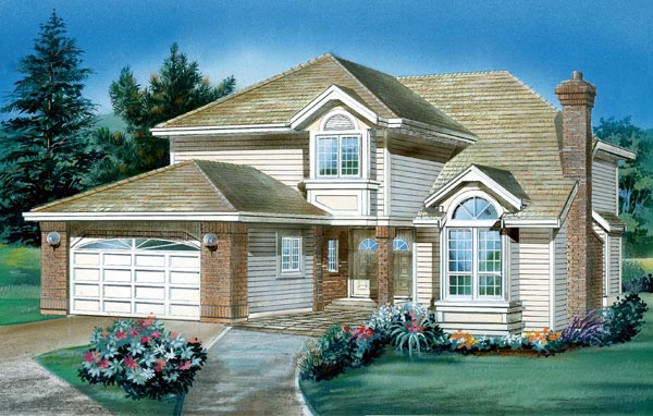 Traditional House Plan 55043 Elevation