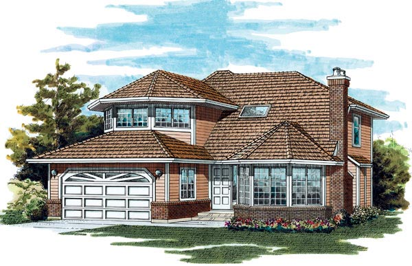 Traditional House Plan 55044 Elevation