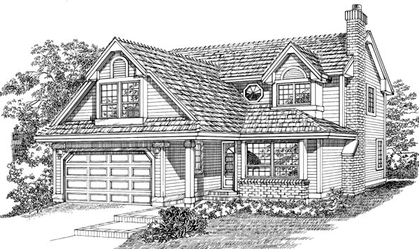 Traditional House Plan 55046 Elevation