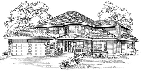 Contemporary House Plan 55047 Elevation