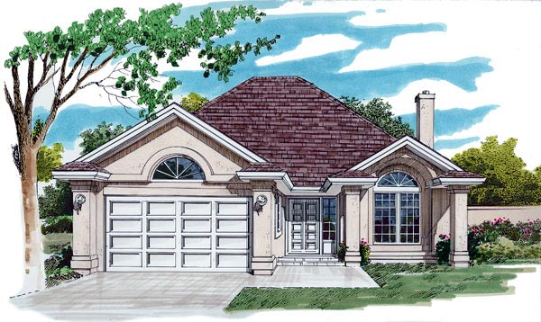 Florida House Plan 55048 Elevation