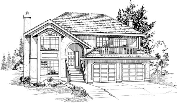 European House Plan 55049 Elevation