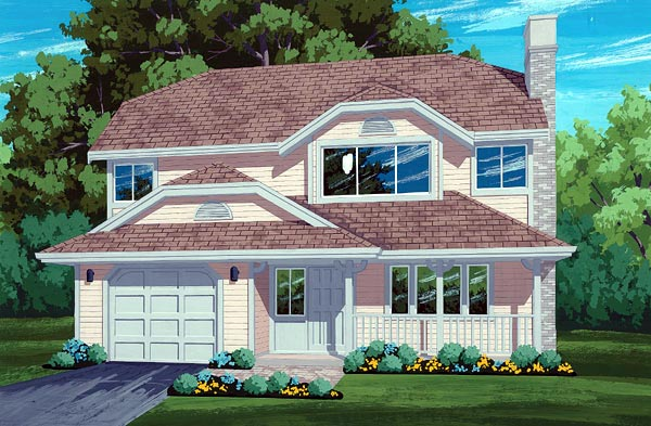 Country House Plan 55053 Elevation