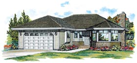 Traditional House Plan 55057 Elevation