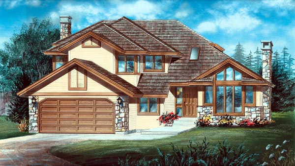 Contemporary House Plan 55060 Elevation