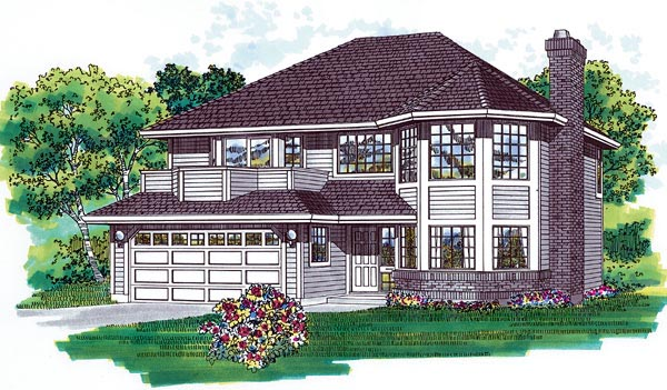 Traditional House Plan 55062 Elevation