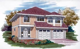 Contemporary House Plan 55063 Elevation