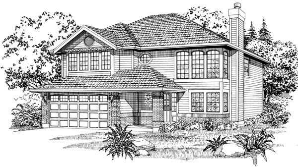 Contemporary House Plan 55064 Elevation