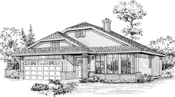 Bungalow House Plan 55065 Elevation