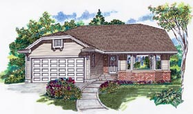 Ranch House Plan 55066 Elevation