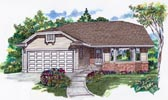 Plan Number 55066 - 1408 Square Feet