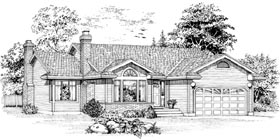 Traditional House Plan 55067 Elevation